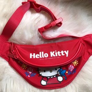 2001 Sanrio Hello Kitty Classic Red Hip Pack Retro